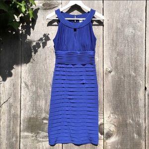 Sangria blue special occasion ruffle dress A44